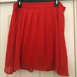 Old Navy High Waisted Red Skirt-Size Large